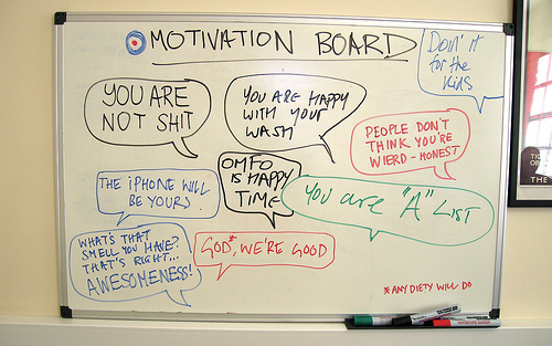 Motivation Board - photo by Simon Clayson