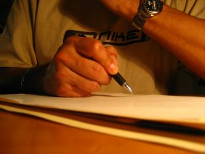 The necessary evil of exams... (photo by ralaenin)
