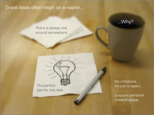 Napkin Ideas (one of the slides from the winning Napkin PC entry)